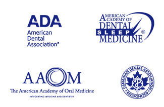 logos of the various dental associations Dr. Doneskey is a part of
